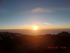 Sunrise on Mt. Kilimanjaro