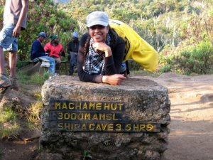 The first stop was at Machame Hut
