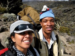 Emmanuel (Whitey), the assistant guide who assisted & guided me to the summit
