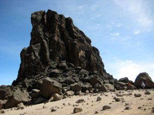 Lava Tower. Point of acclimatization.